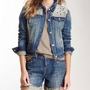 DKNY Studded Denim Jacket Size XL